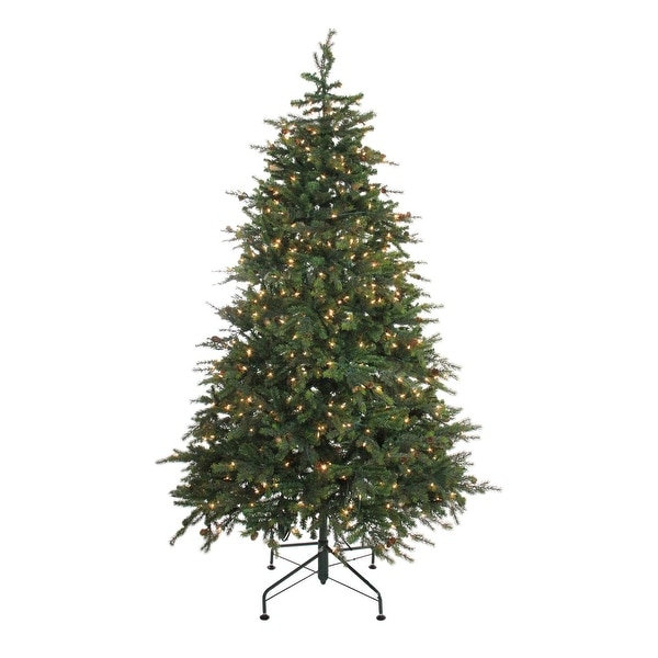 6.5' Pre-Lit Hunter Fir Full Artificial Christmas Tree - Clear Lights