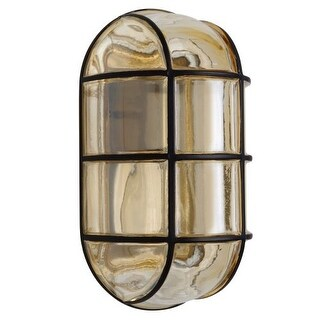 Costaluz 3961 1 Light Incandescent Outdoor Wall Sconce with Smoked Glass Shade