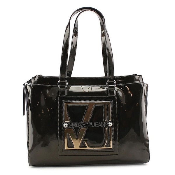 Versace Jeans Couture E1VMBBA8 Women Patent Leather Tote - Black