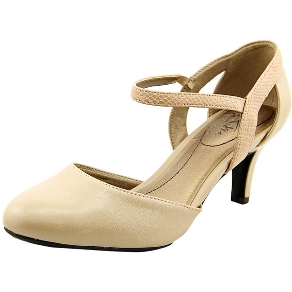 Life Stride Pearl Women Round Toe Synthetic Nude Heels