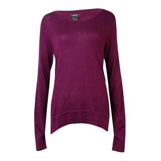 Alfani Women's Ribbed-Panel Scoop Neck Sweater
