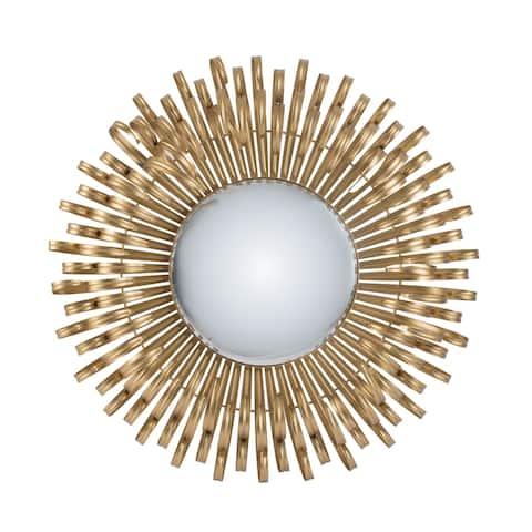 Gold 25.5-inch Mirrored Sunburst Wall Décor