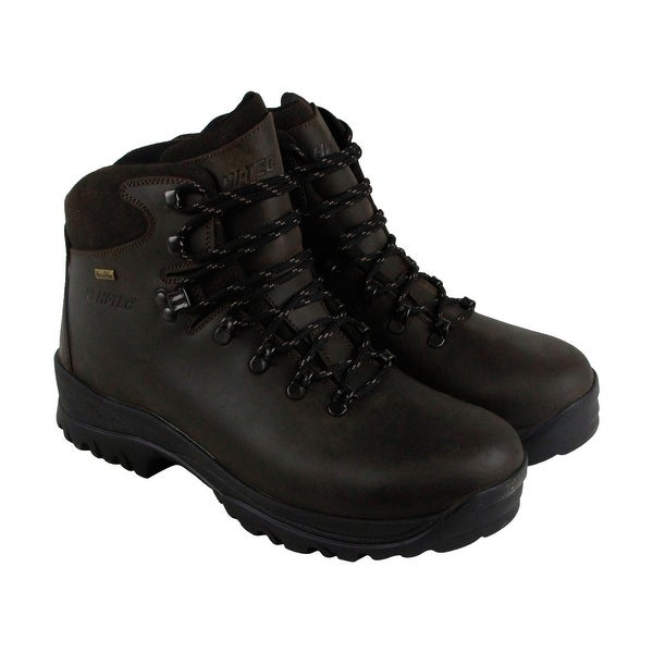 Hi-Tec Ravine Wp Mens Brown Leather Hiking Lace Up Boots Shoes