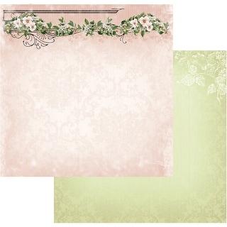 "Vintage Rose Garden Double-Sided Paper 12""X12""-Rose Header"