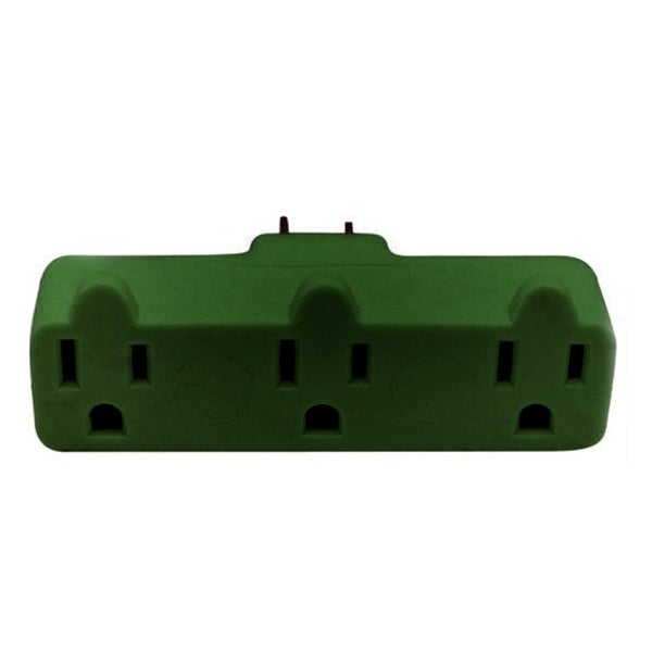 Stanley Heavy-Duty Triple Tap 3-Grounded Outlet Indoor Wall Adapter