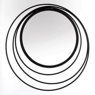 Geometric Design Wall Mirror - Black