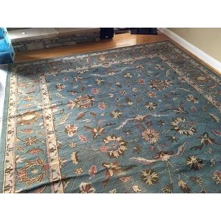 Safavieh Handmade Heritage Timeless Traditional Blue Wool Rug (9'6 x 13'6)