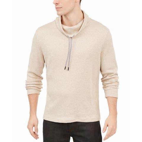 Alfani Mens Sweatshirt Funnel-Neck Drawstring Pullover