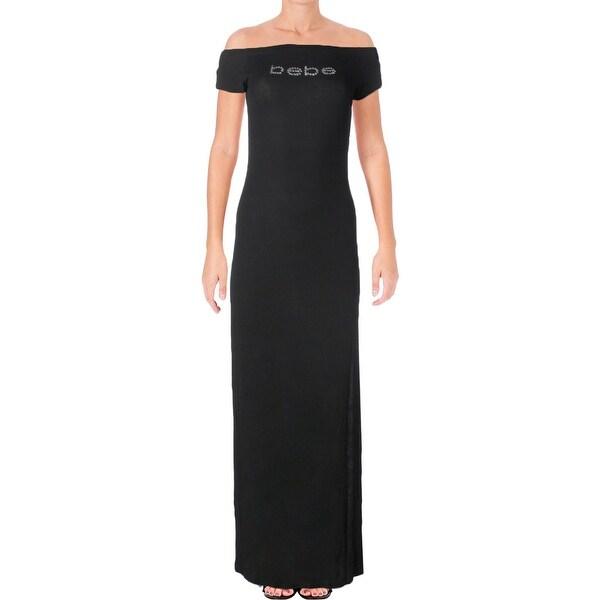 42dc4b1daf Shop Bebe Womens Maxi Dress Logo Slit - Free Shipping On Orders Over ...