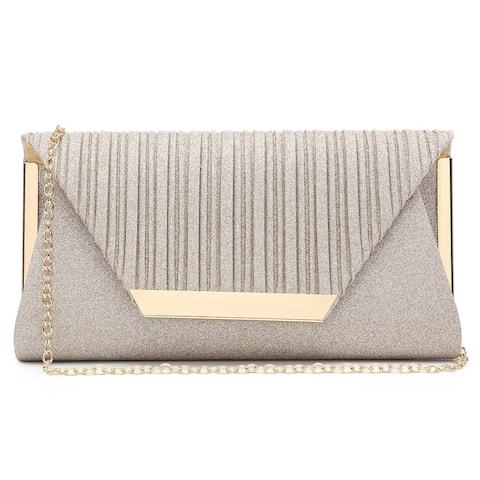 Dasein Glitter Clutch Purses Women Evening Bags Flap Envelope