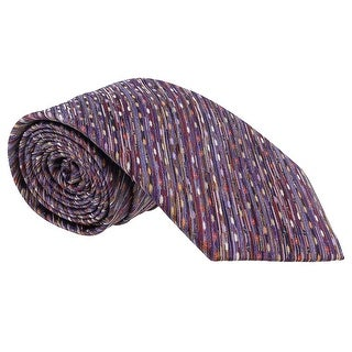 Missoni Diagonal Textured Purple Woven 100% Silk Tie