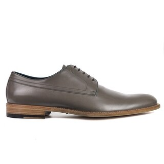 Versace Mens Olive Green Smooth Leather Lace Up Oxfords