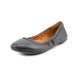 Lucky Brand Emmie Women Round Toe Leather Black Ballet Flats