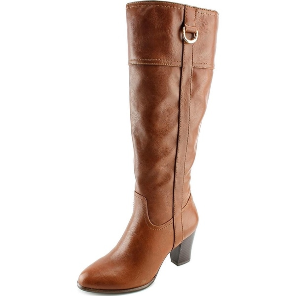 Alfani Carcha Wide Calf Women  Round Toe Synthetic Brown Knee High Boot
