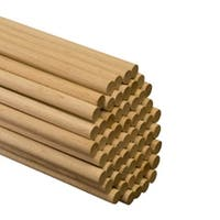 """75 Pcs of 5/8"""" x 36"""" Birch Wood Dowels"""