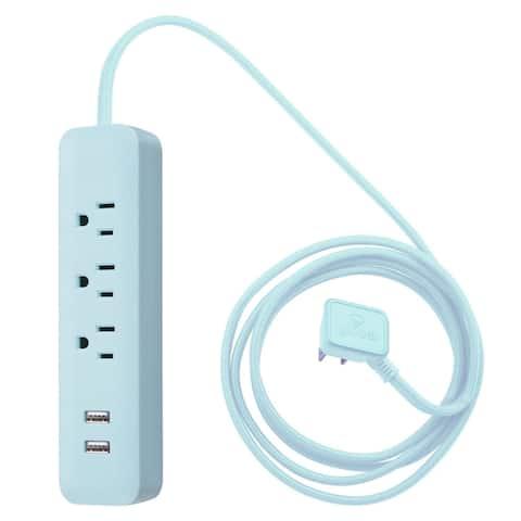 Globe Electric 78249 Designer 3-Outlet USB Surge Protector Power Strip