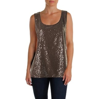 Lafayette 148 Womens Blouse Silk Sequined