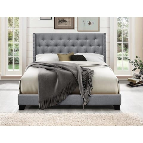 Brady Upholstered Wingback Panel Bed