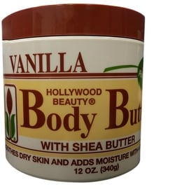 Hollywood Beauty Body Butter With Shea Butter & Vitamin E, 12 oz
