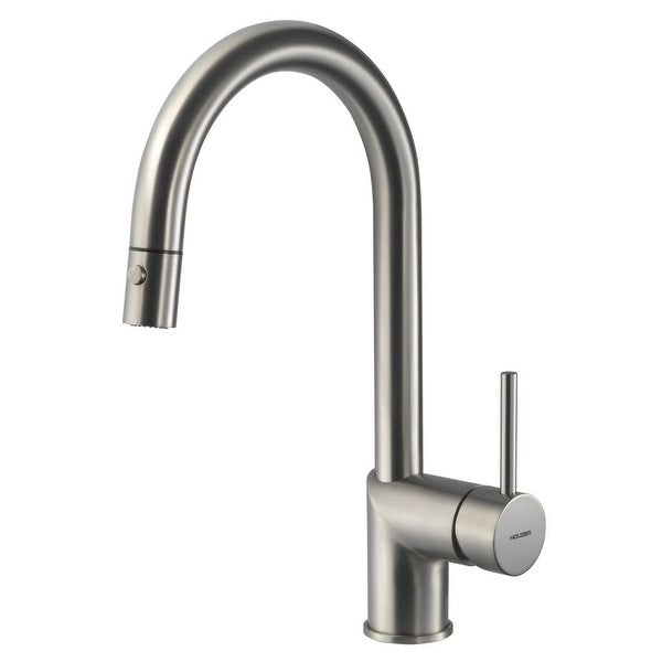 Houzer VITPD-668 Vitale Pull-Down Kitchen Faucet with CeraDox Lifetime Technology
