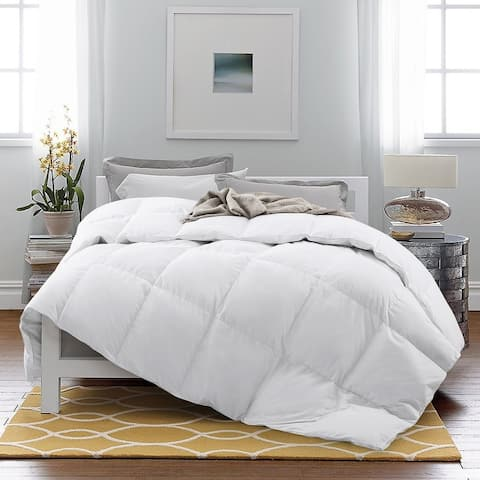 Luxury Year Round Goose Down Blend Gusseted Duvet Comforter