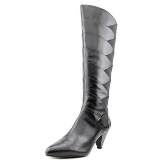 J. Renee Walkaline Women W Pointed Toe Leather Knee High Boot
