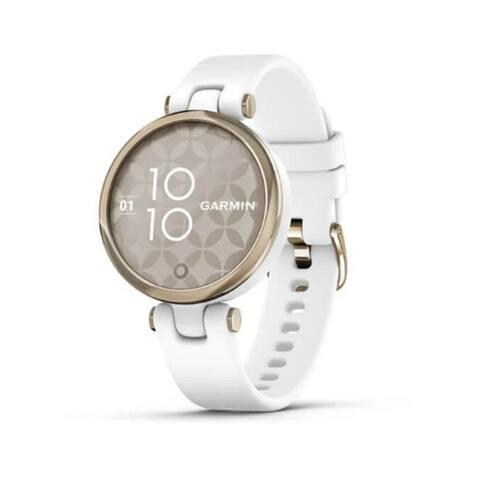 Garmin Lily Sport Smartwatch for Women (Cream Gold Bezel/White Case)