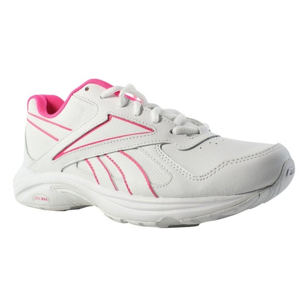 9e7965575603ad Shop Reebok Womens Walk Ultra V Dmx Max Pr-White SolarPink Walking Shoes  Size 8 - Free Shipping On Orders Over  45 - Overstock - 23123934