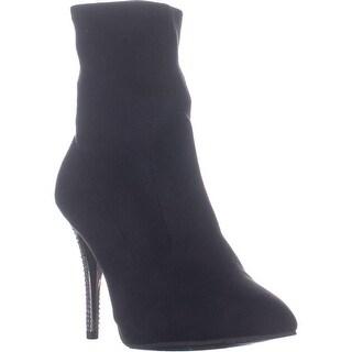 Nina Roxie Pointed Toe Ankle Booties, True Black - 9 US / 39.5 EU