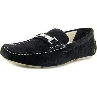Calvin Klein Magnus Men Moc Toe Suede Black Loafer