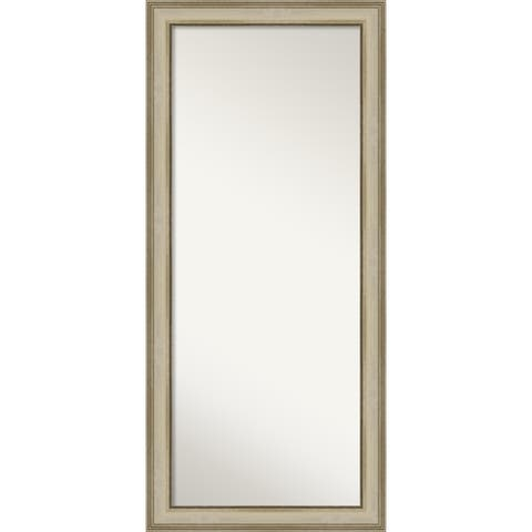 Colonial Light Gold Decorative Full Length Floor / Leaner Mirror - Colonial Light Gold
