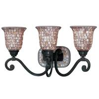 "Classic Lighting 71143 12"" Wrought Iron 3-Light Vanity from the Pearl River Collection - Oil Rubbed bronze - n/a"