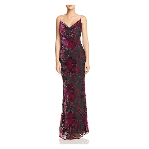 LIKELY Purple Spaghetti Strap Full-Length Dress 6
