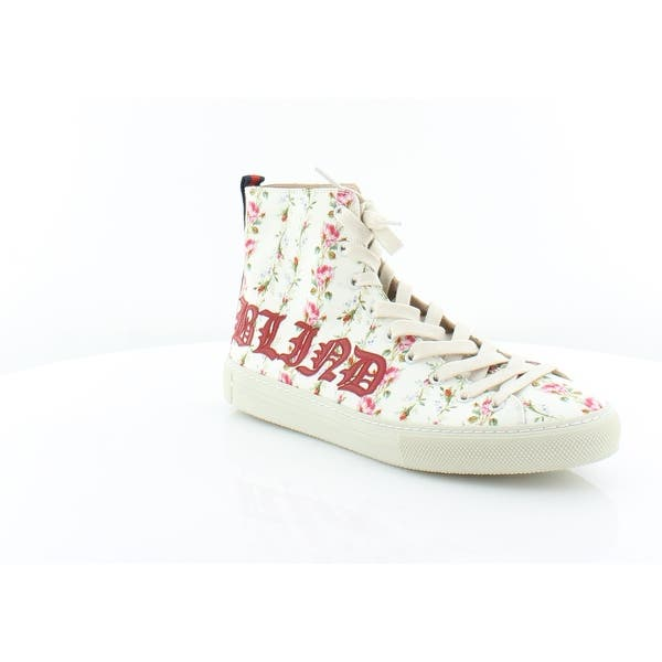 9b0393f2c Gucci Major Blind For Love Rose Print High Top Sneakers Women's Fashion  Sneakers Ivory/Ivory/H.Red/BR - 9.5