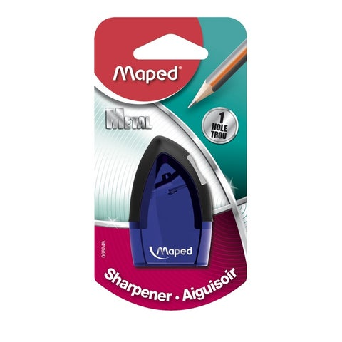 Maped Tonic 1-Hole Pencil Sharpener with Metal Insert, Assorted Colors