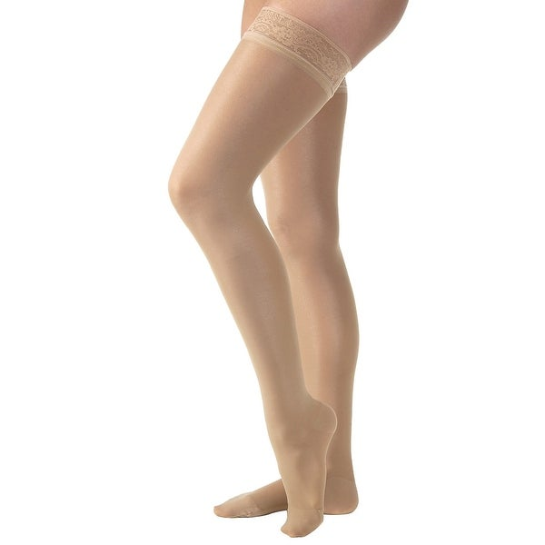 68f5fd9cb Shop Women s Jobst Ultrasheer Thigh High Mild Support Hose Stockings -  Black Beige or Bronze - On Sale - Free Shipping On Orders Over  45 -  Overstock - ...