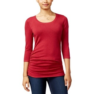 Pink Rose Womens Juniors Pullover Sweater Ruched Sides Ribbed Collar (2 options available)