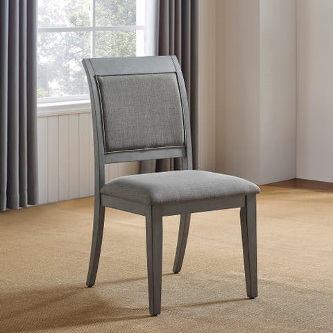 Furniture of America Marn Transitional Grey Side Chairs (Set of 2)