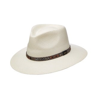 Scala Classico Men's Toyo Outback Hat with Feather Hatband