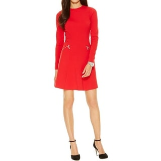 MICHAEL Michael Kors Womens Wear to Work Dress Ponte Long Sleeves