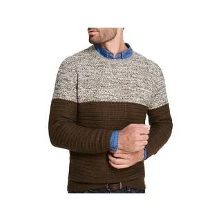 Weatherproof Vintage Mens Pullover Sweater Marled Colorbloked - L