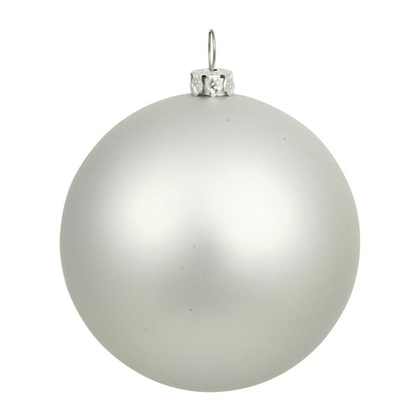 "Matte Silver UV Resistant Commercial Drilled Shatterproof Christmas Ball Ornament 15.75""(400mm)"