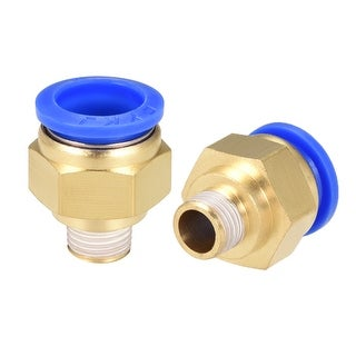 """2Pcs 1/4"""" G Male Straight Thread 16mm Push In Joint Pneumatic Quick Fittings"""