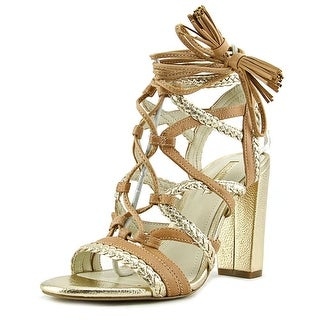 BCBGeneration Ronny Women Open Toe Synthetic Gold Sandals