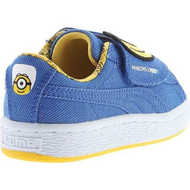 PUMA Children's Minions Basket Wrap Statement Sneaker Lapis BlueLapis BlueMinion Yellow Denim
