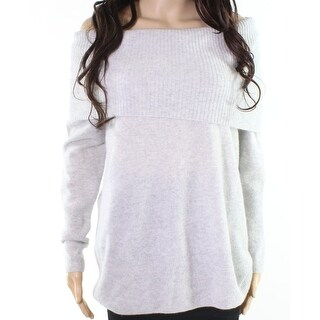 Halogen Light Gray Womens Size Medium M Ribbed Cashmere Knit Top