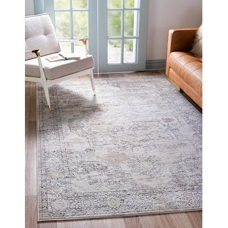 Link to Porch & Den Reeves Distressed Floral Medallion Area Rug Similar Items in Farmhouse Rugs