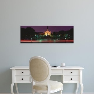 Easy Art Prints Panoramic Image 'Jackson Square, St. Louis Cathedral, French Quarter, New Orleans,Louisiana' Canvas Art