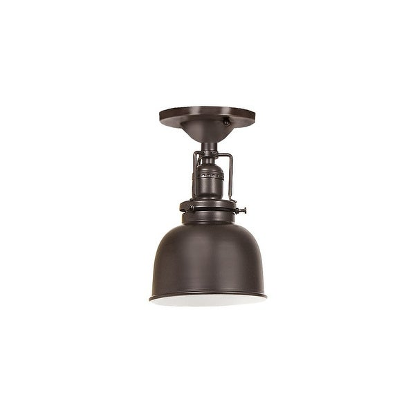 "JVI Designs 1202-08-M2 Union Square 1 Light Semi-Flush 8.75"" Tall Ceiling Fixture with Metal Shade - Oil Rubbed bronze"