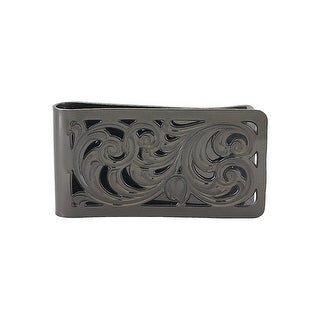 Montana Silversmiths Money Clip Adult Filigree Scrolling Black - Silver Black - One Size